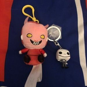 Accessories - The Nightmare Before X-Mas Funko Keychain x2